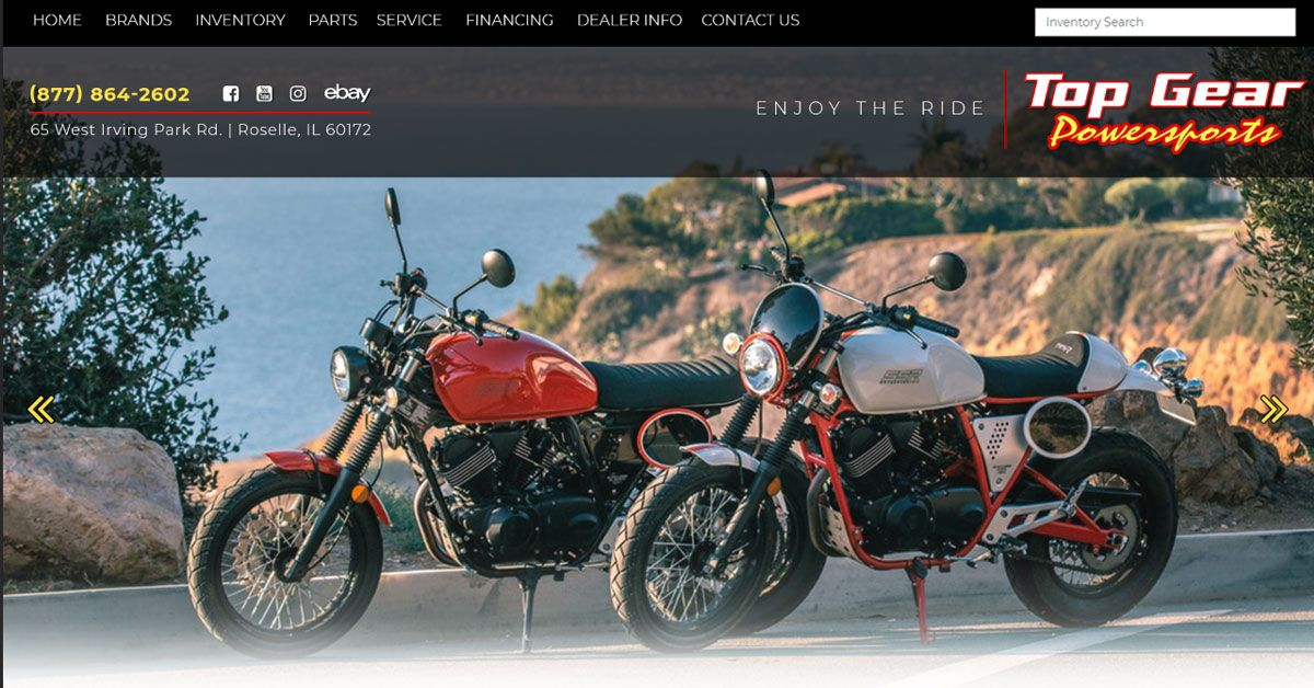 Motorcycle Scooter Shop Chicagoland Top Gear Powersports Roselle Il